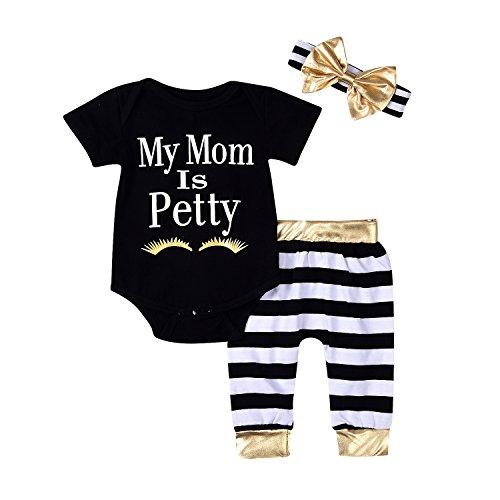 Baby Kids Children Girl's Pants Set Cap Sleeve Tops and Short Pants - 7