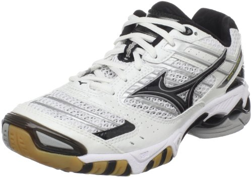Mizuno Womens Wave Lightning 7 Volleyball Shoe White/Black QjdoIC