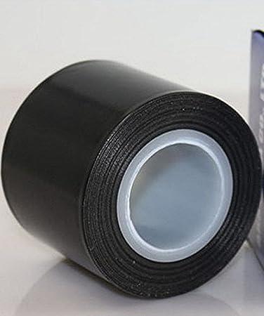 1 pulgada de ancho x 11 yardas negro Cinta de tefl/ón de fibra de vidrio revestida de PTFE de alta temperatura con pa/ño adhesivo de silicona