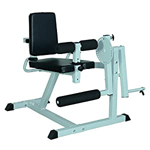 Soozier Adjustable Leg Curl Machine White/Black