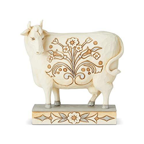 Enesco Jim Shore Heartwood Creek White Farmhouse Cow