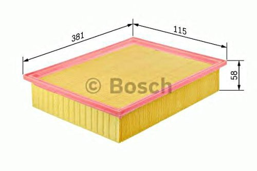 BOSCH Engine Air Filter Insert Fits RENAULT VOLVO 1.6-2.3L 1977-1998 05821144