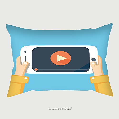 Custom Satin Pillowcase Protector Watch Videos On Your Phone. Mobile Phone With Video Player On The Screen. Play Online Video On Your Phone. Video Streaming On Phone. Video App In Your Phone. M by chaoran