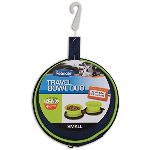 (Petmate 3-Cup Silicone Duo Travel Bowl)
