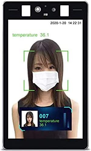 YUN Earth@ Not-Contact Physique Temperature Measure Show/Kiosk with Face Recognition and IR Thermal Scanner for Entrance and Exit of Workplace Constructing, Mall, Grocery store, Station, Faculty [TP-1813]