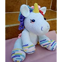 Unicorn Baby Peluche ted Tejido a mano