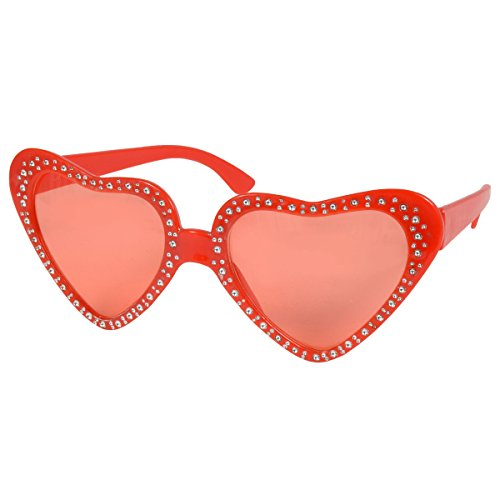 Red Valentine Heart Shaped Glasses