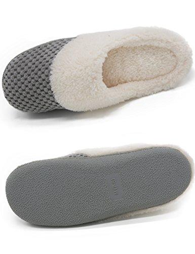 HushWear - Zapatillas de estar por casa para mujer gris