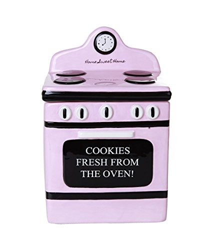 Pacific Giftware Retro Oven Freshly Baked Ceramic Cookie Jar with Air Tight Lid 8 inch Tall ()