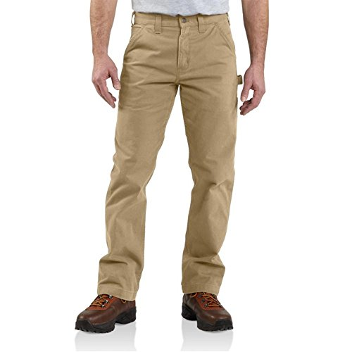 Mens Relaxed Fit Casual Pant - Carhartt Men's Washed Twill Dungaree Relaxed Fit,Field Khaki,32 x 36