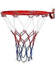Kitabetty Reemplazo de la llanta de Baloncesto, Colgante montado en la Pared Meta de aro de Baloncesto con Tornillo de Red para Exteriores e Interiores, 32 cm / 12.6 Pulgadas