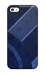 Cute Appearance Cover/tpu XYVHBhi1035wFrGB Fresh Blue Abstract Case For Iphone 5/5s