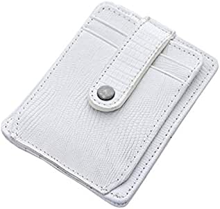 Atiq White Leather For Men - Card & ID Cases