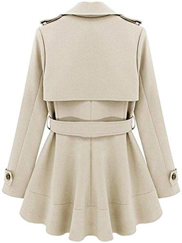 Chemise Beige Col Classique Longues Femme Uni Medium Blouson Manches Ads Manteau ICqwTRw6