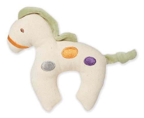 - miYim Simply Organic, Canvas Knit Teether, Green Horse by Greenpoint Brands