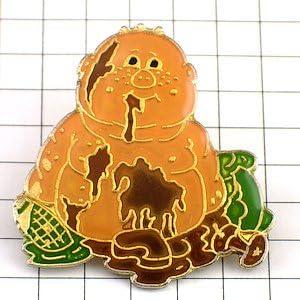 限定 レア ピンバッジ お菓子でベタベタの赤ちゃん