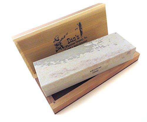 Combination Arkansas Stone (Genuine Arkansas Combination Soft (Medium) and Hard (Fine) Knife Sharpening Bench Stone Whetstone 6