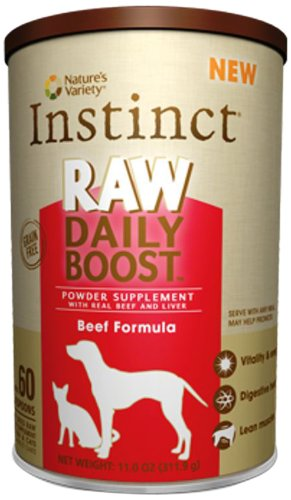 Instinct Raw Daily Boost Beef Supplement Powder by Nature's Variety, 11-Ounce Canister, My Pet Supplies