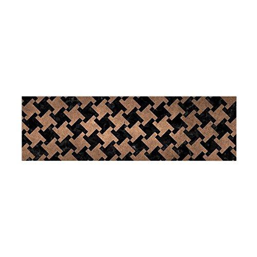 CafePress - HTH2 BK-MRBL BZ-MTL - 36x11 Wall Decal, Vinyl Wall Peel, Reusable Wall Cling