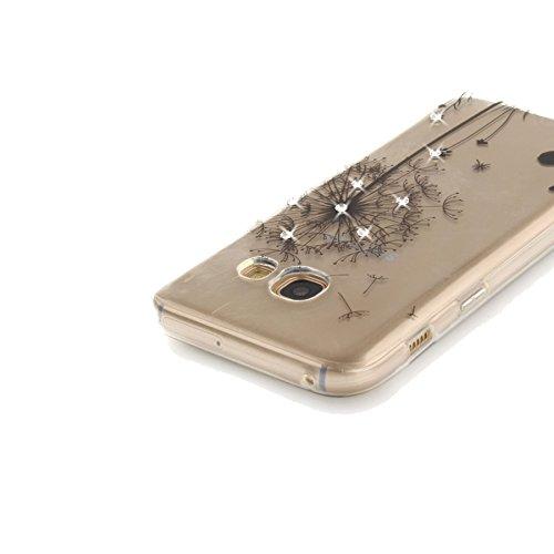 StarryON Fashion Design Funda Samsung Galaxy A5 2017, Hermosa Flor Patrón Flexible TPU Silicona Slim Funda IMD (In-Mold Decoration) Diseño Anti-Scratch Anti Fade Antideslizante Teléfono Protectora Dia Diente de León