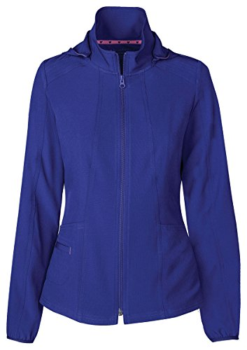 HeartSoul Women's Warm-Up Detachable Hooded Jacket_Galaxy Blue_X-Small,20310