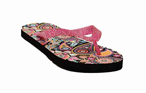 Blazin Roxx Womens Audrey Flip Flops, Pvc Pink