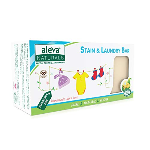 Stain Remover and Laundry Bar | Removes Stains from Clothing and Fabrics | Hand Wash Delicates | Targets Spit-Up, Food Mush and Soiled Clothing | Natural and Organic Ingredients | (220 grams)