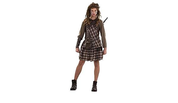 Disfraz Guerrero Escocés para hombre: Amazon.es: Juguetes y juegos