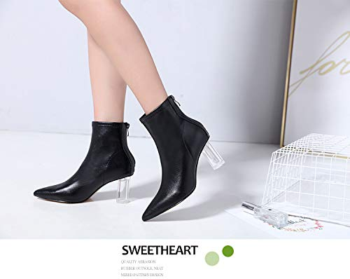 LBTSQ-Mode Damenschuhe 8Cm Martin Stiefel Mit Hohen 8Cm Damenschuhe Crystal Wild Spitz Sexy Kurze Stiefel. fa1bcd