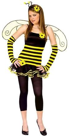 Fun World Costumes Junioru0027s Teen Honey Bee Yellow Junior (Size 7-  sc 1 st  Amazon.com & Amazon.com: Fun World Costumes Junioru0027s Teen Honey Bee Yellow ...