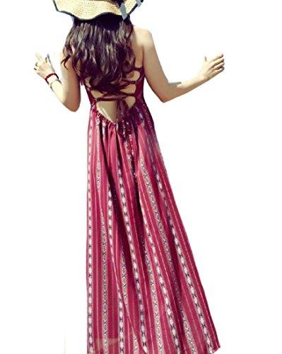 Dress Comfy Cross Long Boho Women's As1 Print Maxi Sundress Sleeveless Back w8wFI
