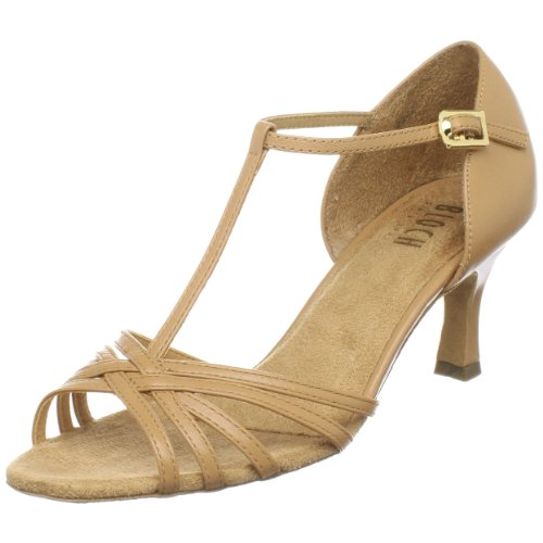 Bloch Women's Nicola Ballroom Shoe,Natural,9.5 X(Medium) US (Natural Footwear Satin)