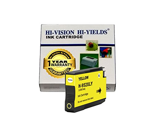 HI-VISION Compatible HP 952XL 1x Yellow Ink Cartridge High Yield for HP OfficeJet PRO All in one printer 8216, 8720, 8725, 8730, 8740 (1 Pack)