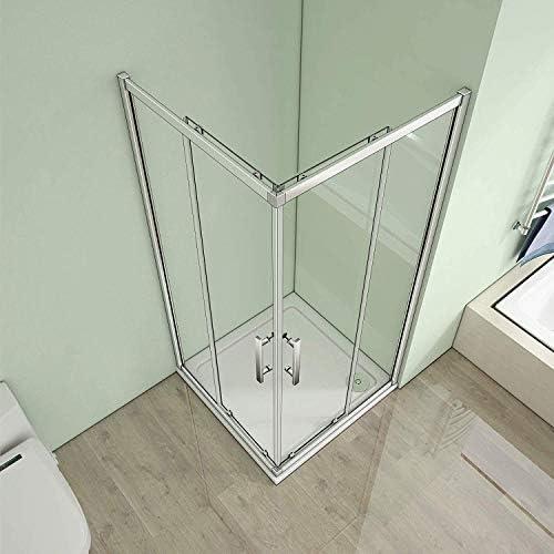 120 x 120 x 185 cm esquina. Mampara de ducha puerta corredera ...