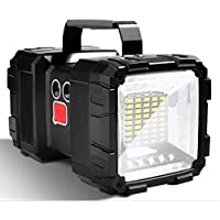 LETOUR Linterna recargable LED, 10000 mAh 1200 lúmenes ultralarga, de alta potencia impermeable para camping 7 modos…