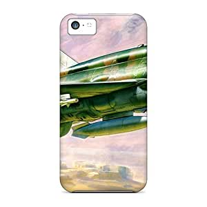 For E-Lineage Iphone Protective Case, High Quality For Iphone 5c Mig 21 Fishbed L Skin Case Cover