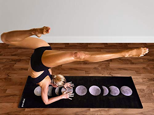 Moon Phases Yoga Mat - Luxuriously Soft, Thick, Non-Slip, Hot Yoga Mat. Designed to Grip Better with a Sweaty Yoga Practice!