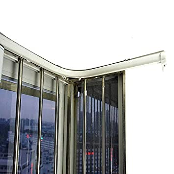 Super More 3 Meters Bendable Straight Curved Curtain Track Top Side Mounting Ceilling Installation SM-131