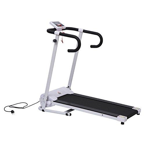 HOMCOM Cinta de Correr Plegable y Eléctrica de 500W para Fitness 1-10Km/h con Pantalla LCD y Carga Máx. 110kg