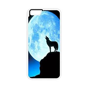 Wolf art,wolf love moon Pattern Hard Snap Cell Phone Case for For Iphone Case 6 5.5 Inch color18 by runtopwell