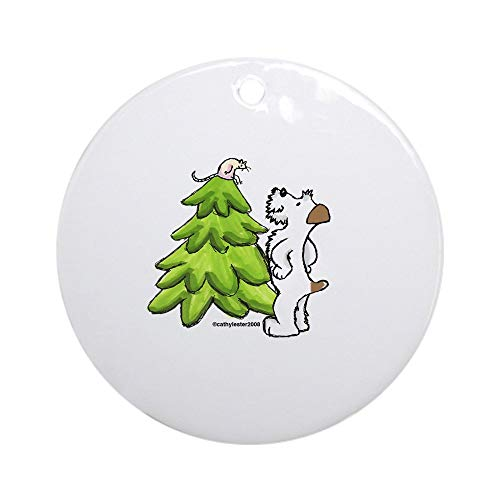 Jack Russell Christmas Cards - CafePress Jack Russell Christmas Ornament (Round) Round Holiday Christmas Ornament