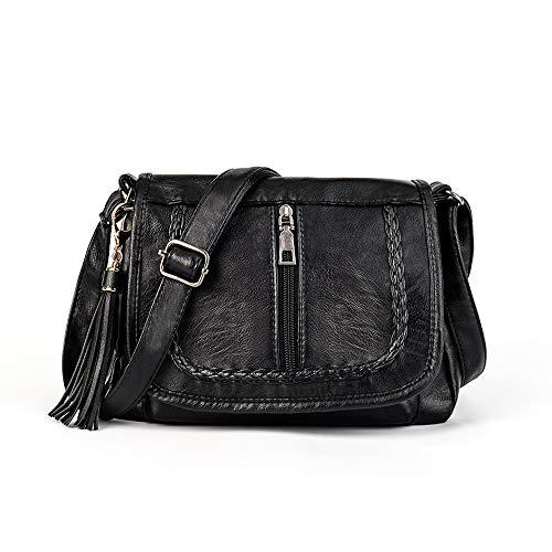 Crossbody Bags Pocketbooks Soft PU Leather Purses Handbags Multi Pocket Shoulder Bag