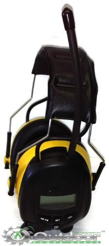 OPD Digital for Work AM FM radio Yellow Earmuffs Headphones use with MP3 IPOD
