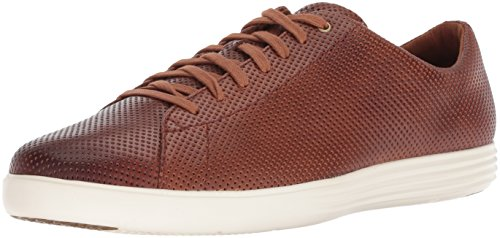 Cole Haan Men's Grand Crosscourt II Sneaker, Woodbury Perforated Leather/Optic White, 14 M US