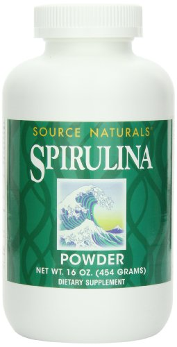Source Naturals Spirulina Powder, Premier Choice for Supplementing a Vegetarian Diet,16 Ounces