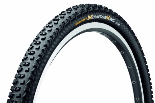 Continental Mountain King II Fold ProTection Bike Tire, Black, 26-Inch x 2.2