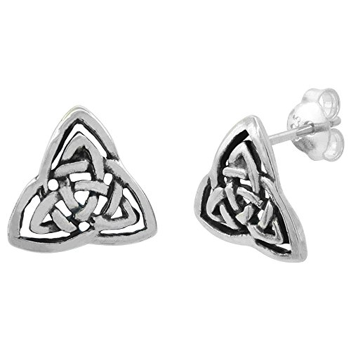 Sterling Silver Triquetra Trinity Earrings