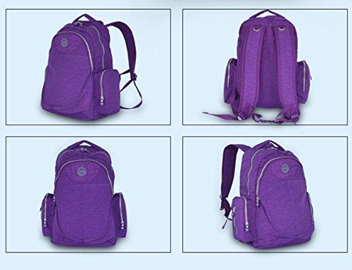 Global- 33 * 25 * 46cm Multifunción mujeres embarazadas Saliendo mochila, se lavan paño de gran capacidad paquete de la momia, de la manera extraña de viaje esencial multifunción mochila ( Color : Neg Purple