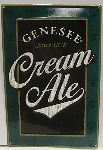 Genny Cream Ale Beer Metal Tacker Sign Embossed 22 x 15