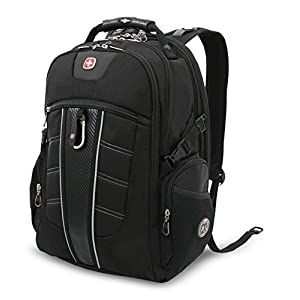 Swiss Gear SA1753 Black TSA Friendly ScanSmart Laptop Backpack - Fits most 15 Inch Laptops and Tablets